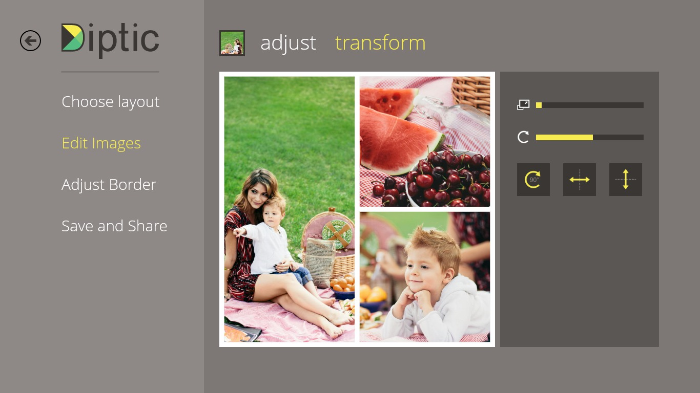 Diptic for Windows 8.1 Screenshot